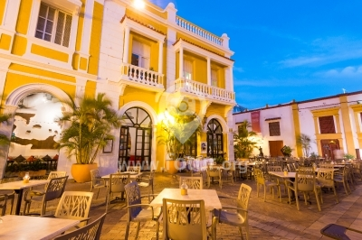 Restaurante en Cartagena, Colombia